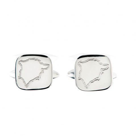 Heidi Kjeldsen Stylish Map Of Rutland Sterling Silver Cufflinks - CL289-1
