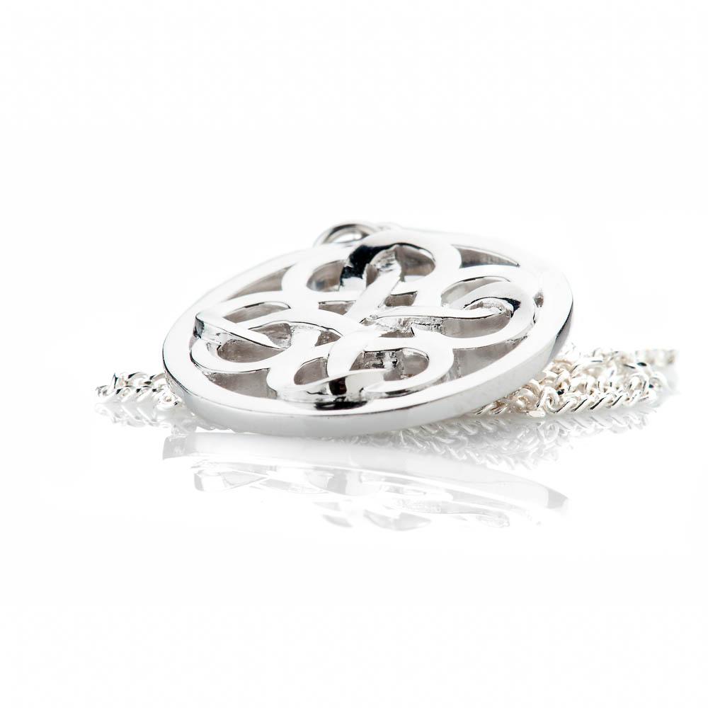 Heidi Kjeldsen Stylish Sterling Silver Viking Love Knot Large Pendant - P1230-3