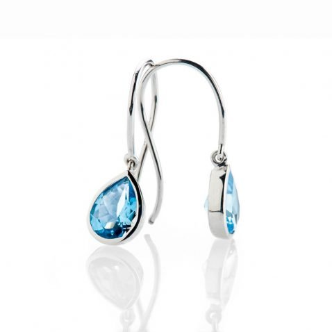 Heidi Kjeldsen Vibrant Swiss Blue Enhanced Natural Topaz And Gold Drop Earrings - ER2361-3