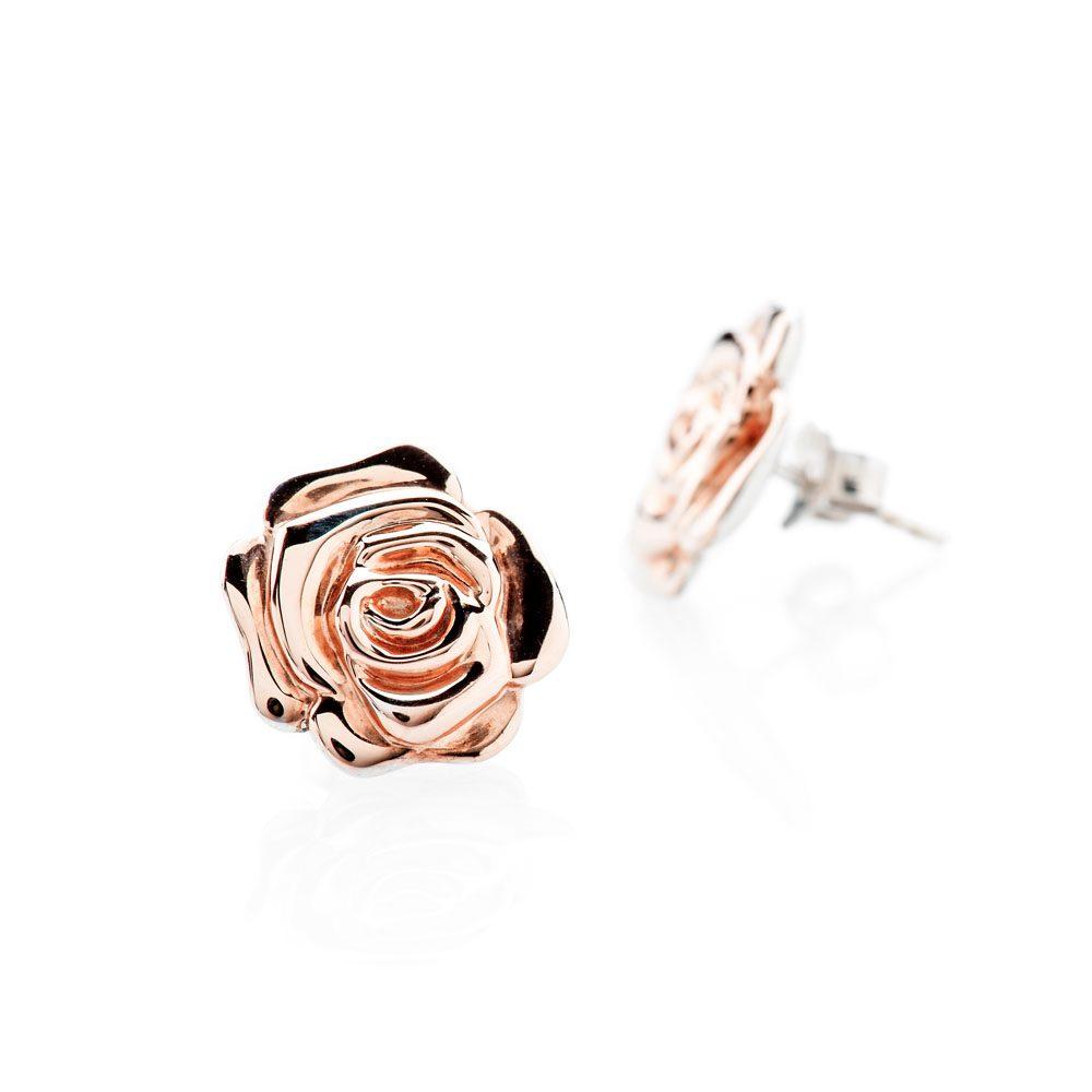 Chic Rose Gold And Sterling Silver Earrings - ER2031-1 Heidi Kjeldsen