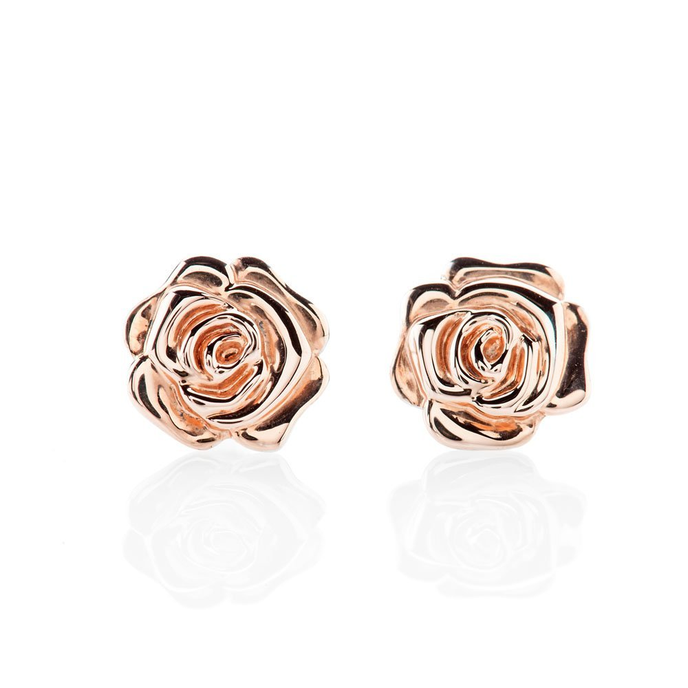 Chic Rose Gold And Sterling Silver Earrings