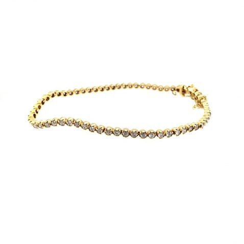 Heidi Kjeldsen Diamond & 18ct Yellow Gold Bracelet BA020X side view