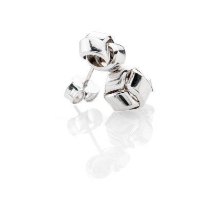 Elegant 9ct White Gold Knot Earstuds - ER2062-2-2 Heidi Kjeldsen