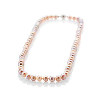 Gorgeous Natural Pink And Mauve Cultured Pearl Necklace - NL1172-1 Heidi Kjeldsen