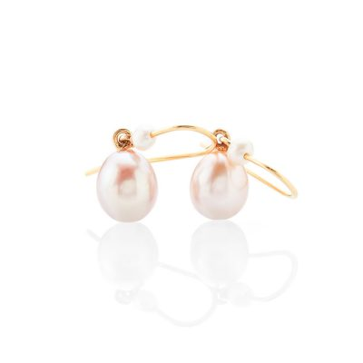 Gorgeous Pink And White Natural Cultured Pearl Drop Earrings - ER2372-2 Heidi Kjeldsen
