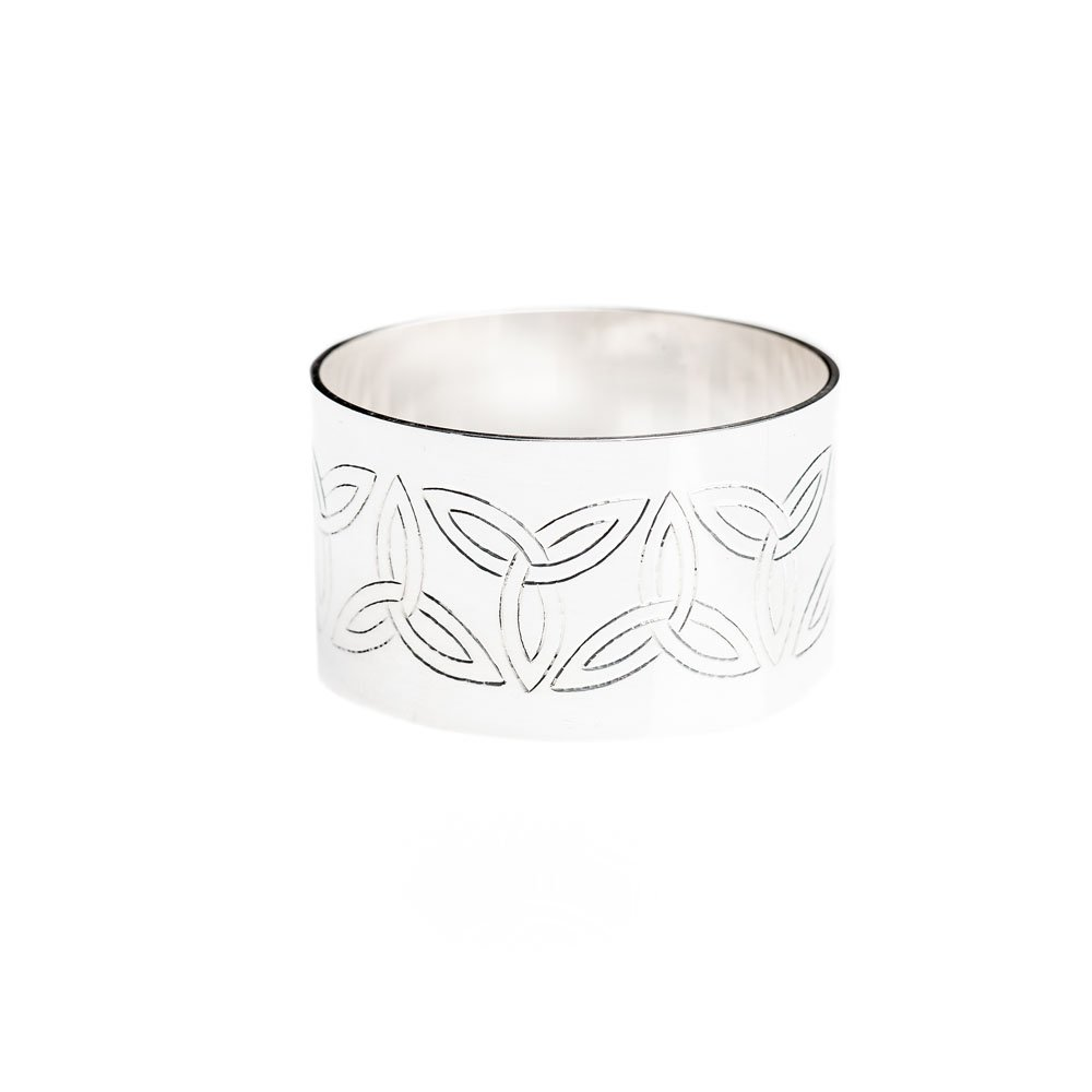 Gorgeous Celtic Design Sterling Silver Napkin Ring - 2010