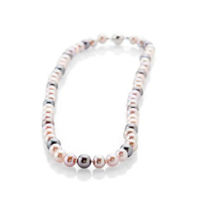 Lustrous Pink And Black Natural Cultured Pearl Necklace - NL1174-1 Heidi Kjeldsen