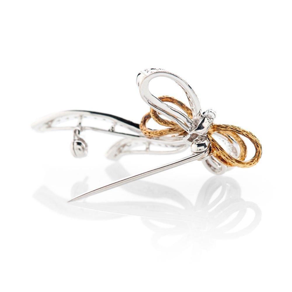 Shimmering Diamond Bow Brooch - BR0010-3 Heidi Kjeldsen