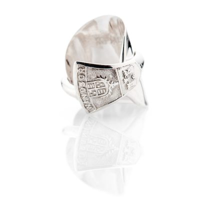 Sterling Silver Teaspoon Ring with Windsor Motif - Birmingham - 1933 - Heidi Kjeldsen Jewellery - R1504-2