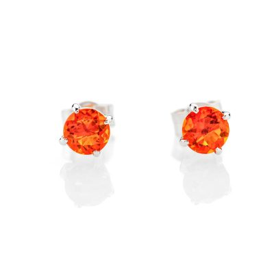 Striking Natural Fire Opal And Gold Earstuds - ER2375-3 Heidi Kjeldsen