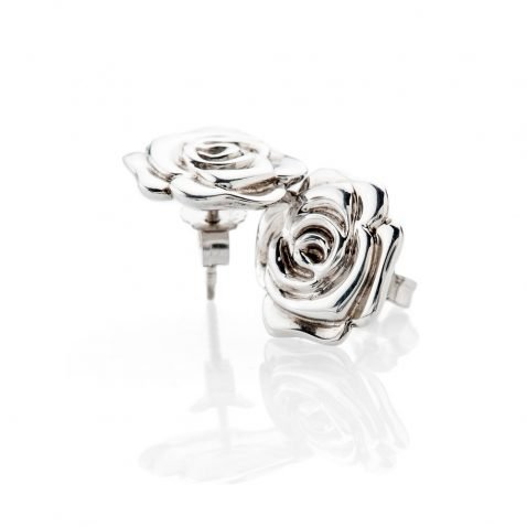 Stylish Sterling Silver Rose Earrings - ER2030-2 Heidi Kjeldsen