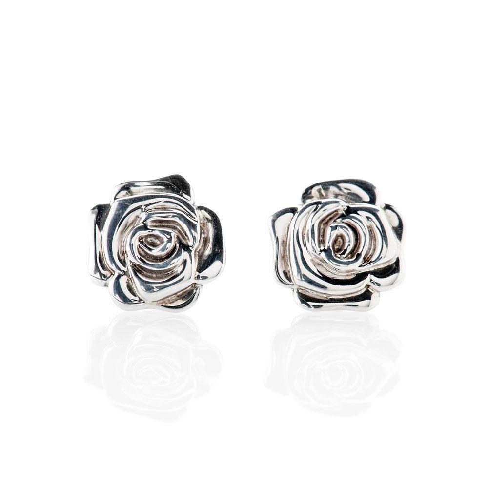 Stylish Sterling Silver Rose Earrings - ER2030-3 Heidi Kjeldsen