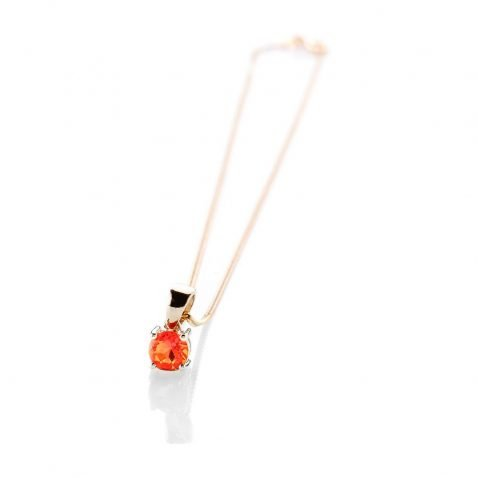 Warm Natural Fire Opal And Gold Pendant - P1241+Y9CB161.75-1 Heidi Kjeldsen
