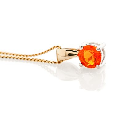 Warm Natural Fire Opal And Gold Pendant - P1241+Y9CB161.75-3 Heidi Kjeldsen