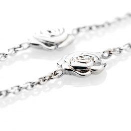 Charming Sterling Silver Rose Bracelet - Heidi Kjeldsen Jewellery - BL1009-2