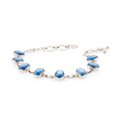 Dainty Natural Kyanite And Sterling Silver Bracelet - Heidi Kjeldsen Jewellery - BL1277-1
