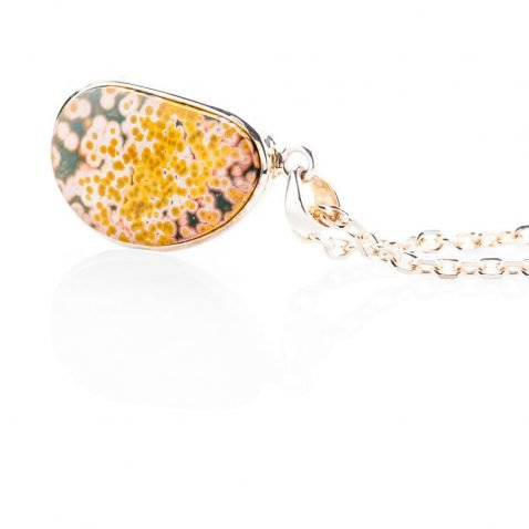 Dreamy Natural Ocean Jasper And Sterling Silver Pendant - Heidi Kjeldsen Jewellery - P1123-1