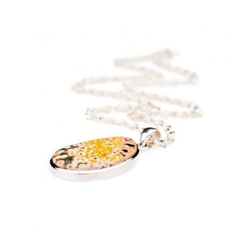Dreamy Natural Ocean Jasper And Sterling Silver Pendant - Heidi Kjeldsen Jewellery - P1123-2