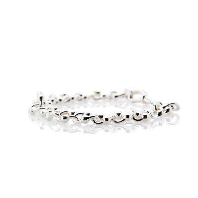 Elegant Sterling Silver Curb Bracelet - Heidi Kjeldsen Jewellery - BL1295-3