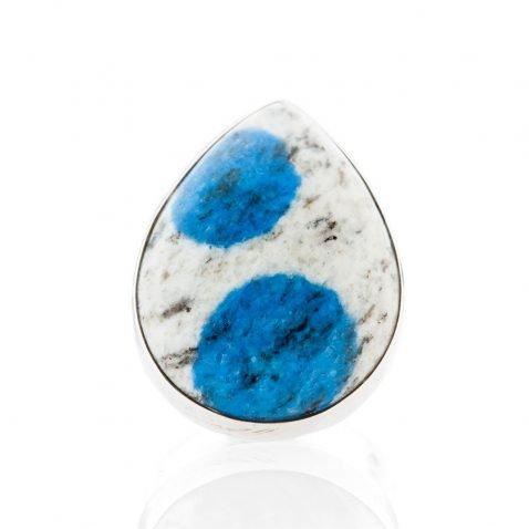 Striking Natural K2 Granite And Sterling Silver Drop Shaped Ring - Heidi Kjeldsen Jewellery - R1269-2
