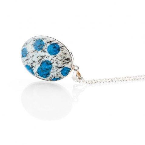Striking Natural K2 Granite And Sterling Silver Pendant - Heidi Kjeldsen Jewellery - P1215-1