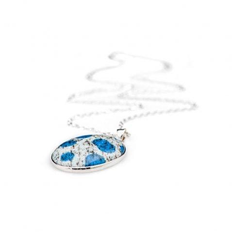 Striking Natural K2 Granite And Sterling Silver Pendant - Heidi Kjeldsen Jewellery - P1215-2
