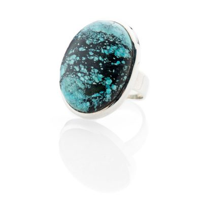 Striking Natural Turquoise And Sterling Silver Ring - Heidi Kjeldsen Jewellery - R1214-2