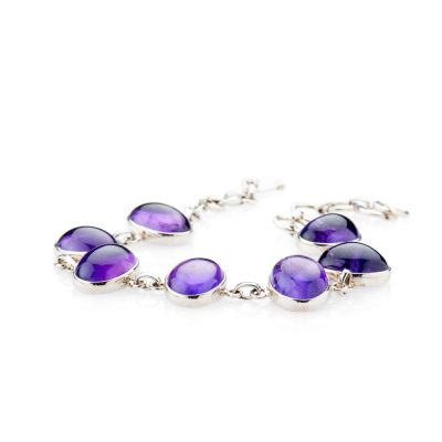Stunning Natural Amethyst And Sterling Silver Bracelet - Heidi Kjeldsen Jewellery - BL1276-1