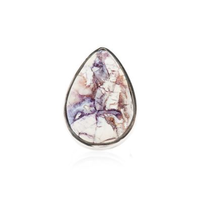 Stylish Natural Tiffany Stone or Bertrandite And Sterling Silver Drop Shaped Ring - Heidi Kjeldsen Jewellery-R1225-2