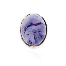 Stylish Natural Tiffany Stone or Bertrandite And Sterling Silver Oval Ring - Heidi Kjeldsen Jewellery - R1224-2