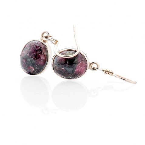 Sultry Natural Eudyalite And Sterling Silver Drop Earrings Heidi Kjeldsen Jewellery - ER2340-2