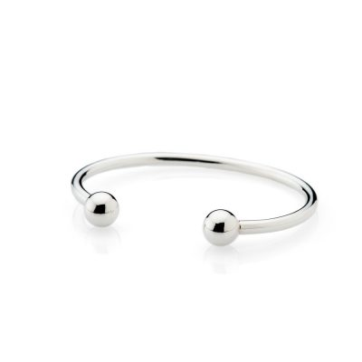 Traditional Solid Sterling Silver handforged Torque Bangle - Heidi Kjeldsen Jewellery - BL1294-1