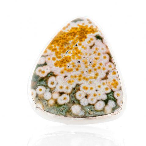 Unusual Natural Ocean Jasper And Sterling Silver Ring - Heidi Kjeldsen Jewellery - R1223-2
