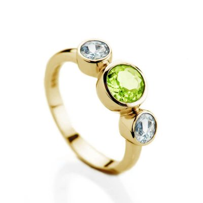 Peridot-and-Blue-Topaz-9ct-yellow-Gold-ring-Heidi-Kjeldsen-Sunlight-Collection-R1535