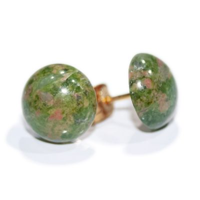 Charming Natural Unakite Cabouchon earrings - Heidi Kjeldsen Jewellers - ER912