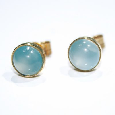 Mysterious Moonstone and Gold earstuds - Heidi Kjeldsen Jewellers - ER2219