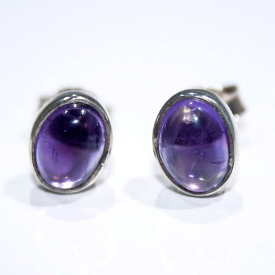 Pretty Amethyst and Sterling Silver Earstuds - Heidi Kjeldsen Jewellers - ER2337