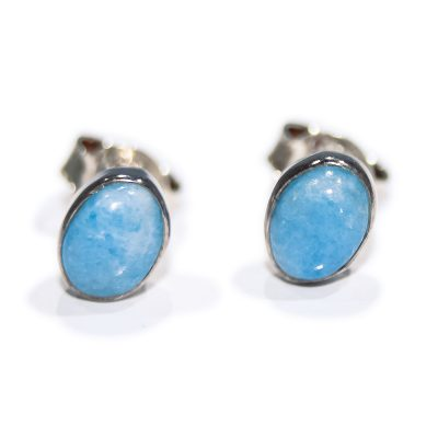 Unusual Natural Violan and Sterling Silver Earstuds - Heidi Kjeldsen Jewellers - ER2335