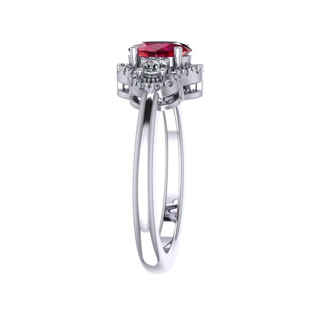 Beautiful Natural Ruby and Diamond Ring R1203 A