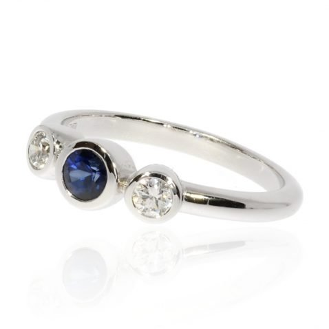 Gorgeous Sapphire and Diamond 18ct Gold Ring by Heidi Kjeldsen Jewellery R1527 Side