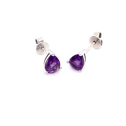 Amethyst Pear shaped Earrings