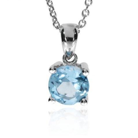 Blue Topaz Pendant By Heidi Kjeldsen Jewellery P903 Front
