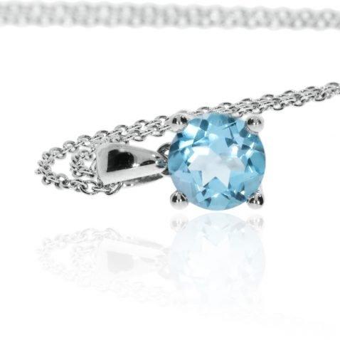 Blue Topaz Pendant By Heidi Kjeldsen Jewellery P903 Side