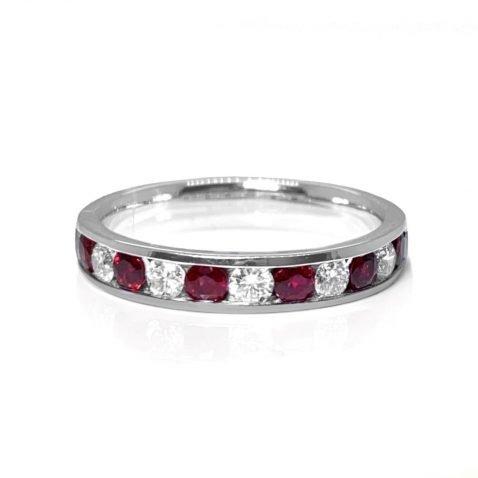 Ruby and Diamond Eternity Ring By Heidi Kjeldsen jewellery R1582 front view