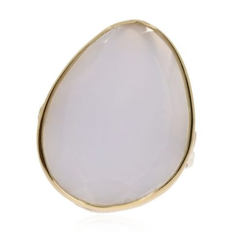 White Chalcedony Ring By Heidi Kjeldsen Jewellery R1118 Front view