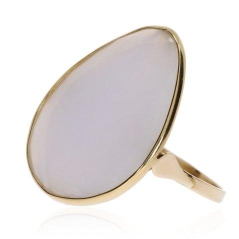 White Chalcedony Ring By Heidi Kjeldsen Jewellery R1118 Side view