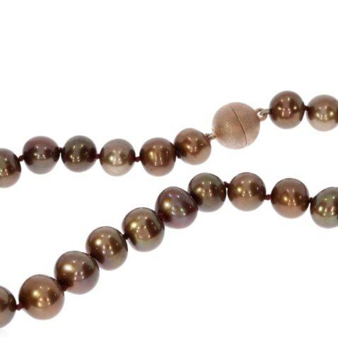 Bronze Cultured Pearl Necklace by Heidi Kjeldsen jewellery NL1176 Front