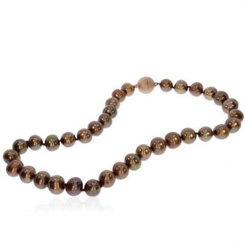 Bronze Cultured Pearl Necklace by Heidi Kjeldsen jewellery NL1176 Full