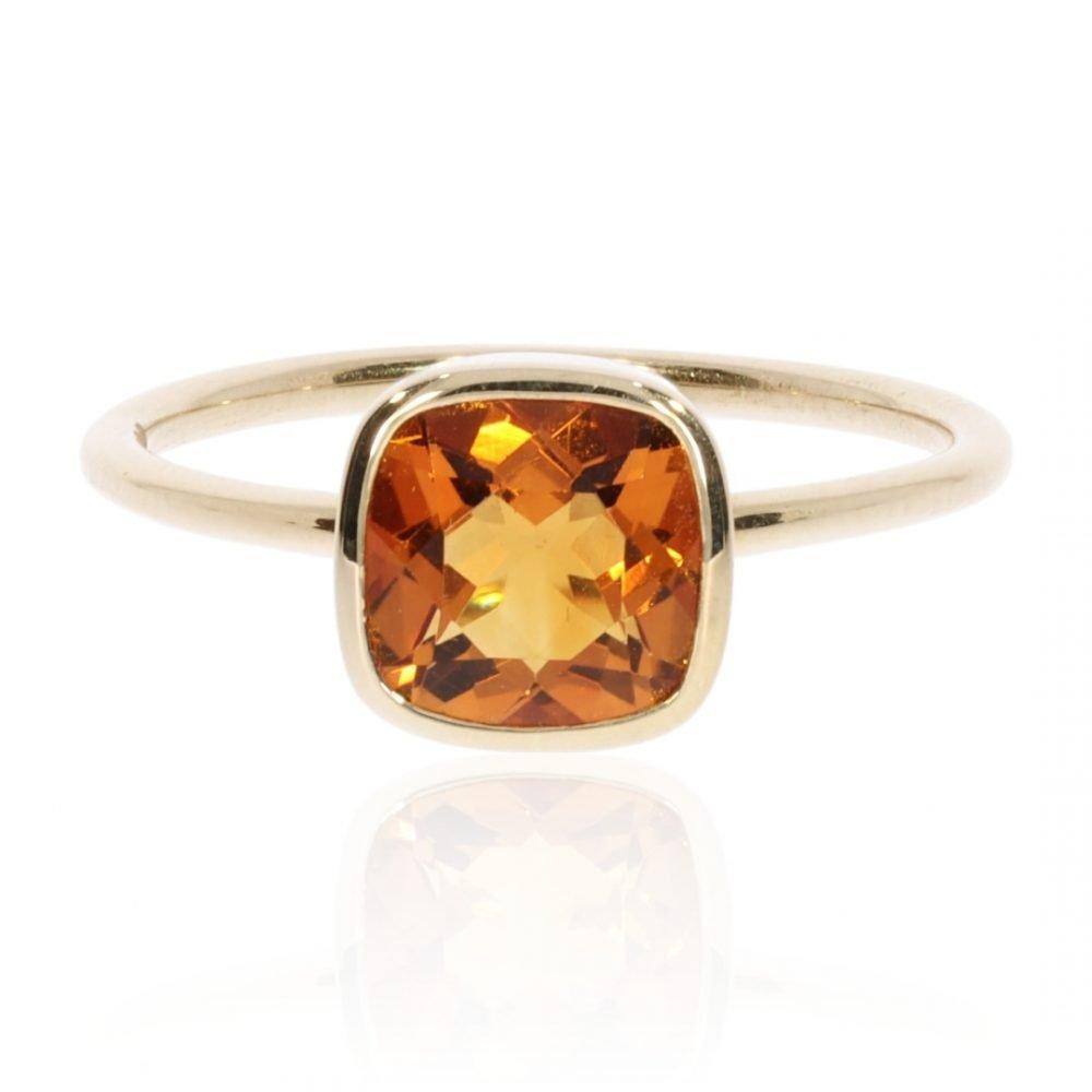 Madeira Citrine And Gold Ring By Heidi Kjeldsen Jewellery R1563 Front