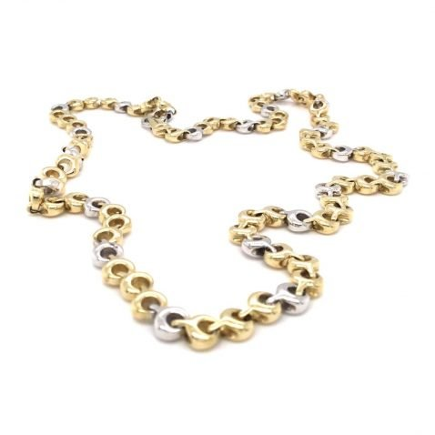 Gorgeous Yellow and White Gold Necklace Top View